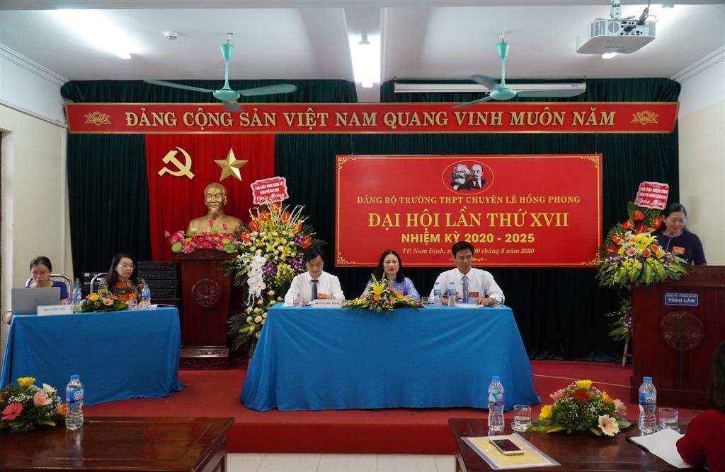 Đại hội Đảng bộ trường THPT chuyên Lê Hồng Phong khóa XVII nhiệm kỳ 2020–2025