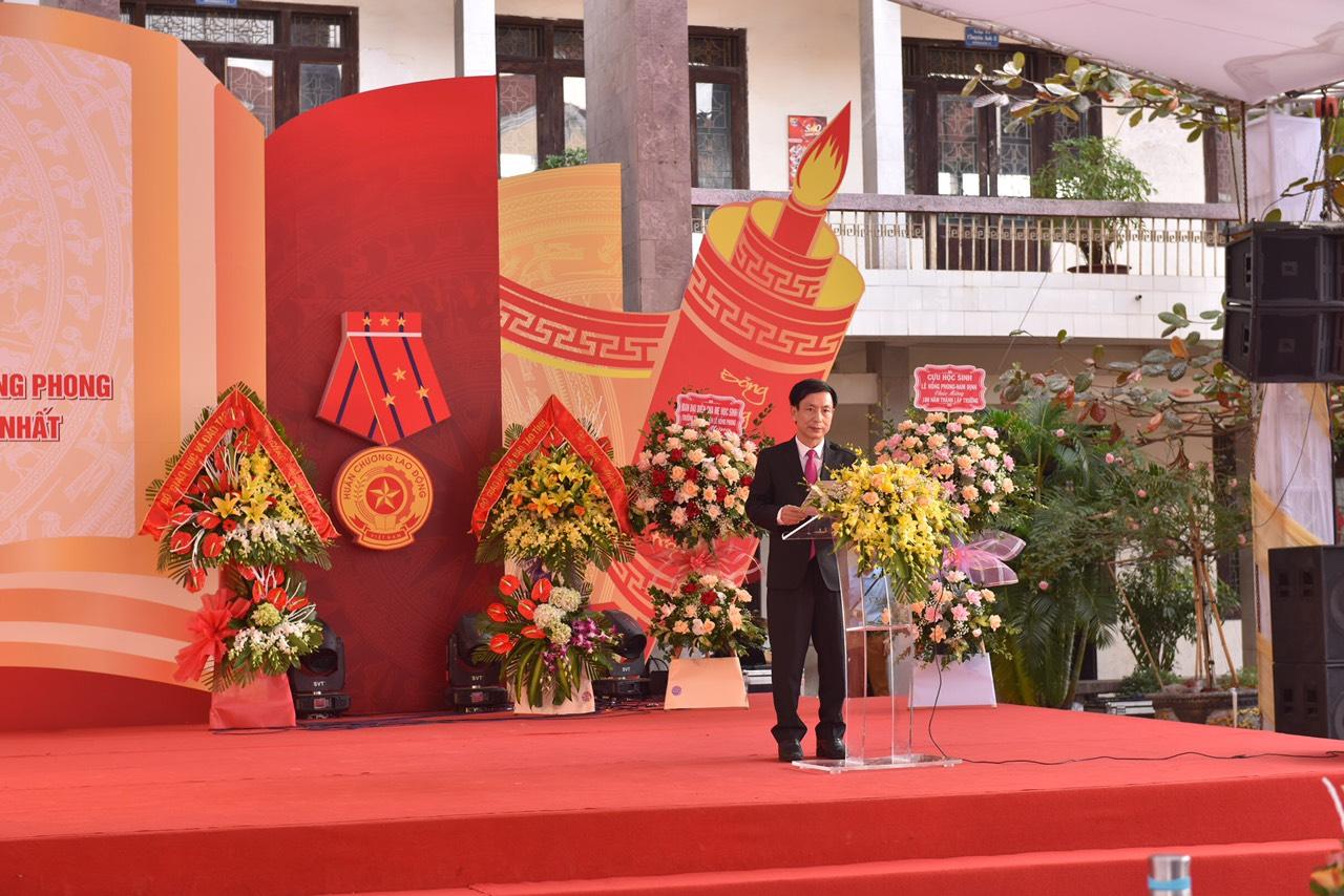 Bài phát biểu của đồng chí Chủ tịch UBND tỉnh tại Lễ Kỉ niệm thành lập trường