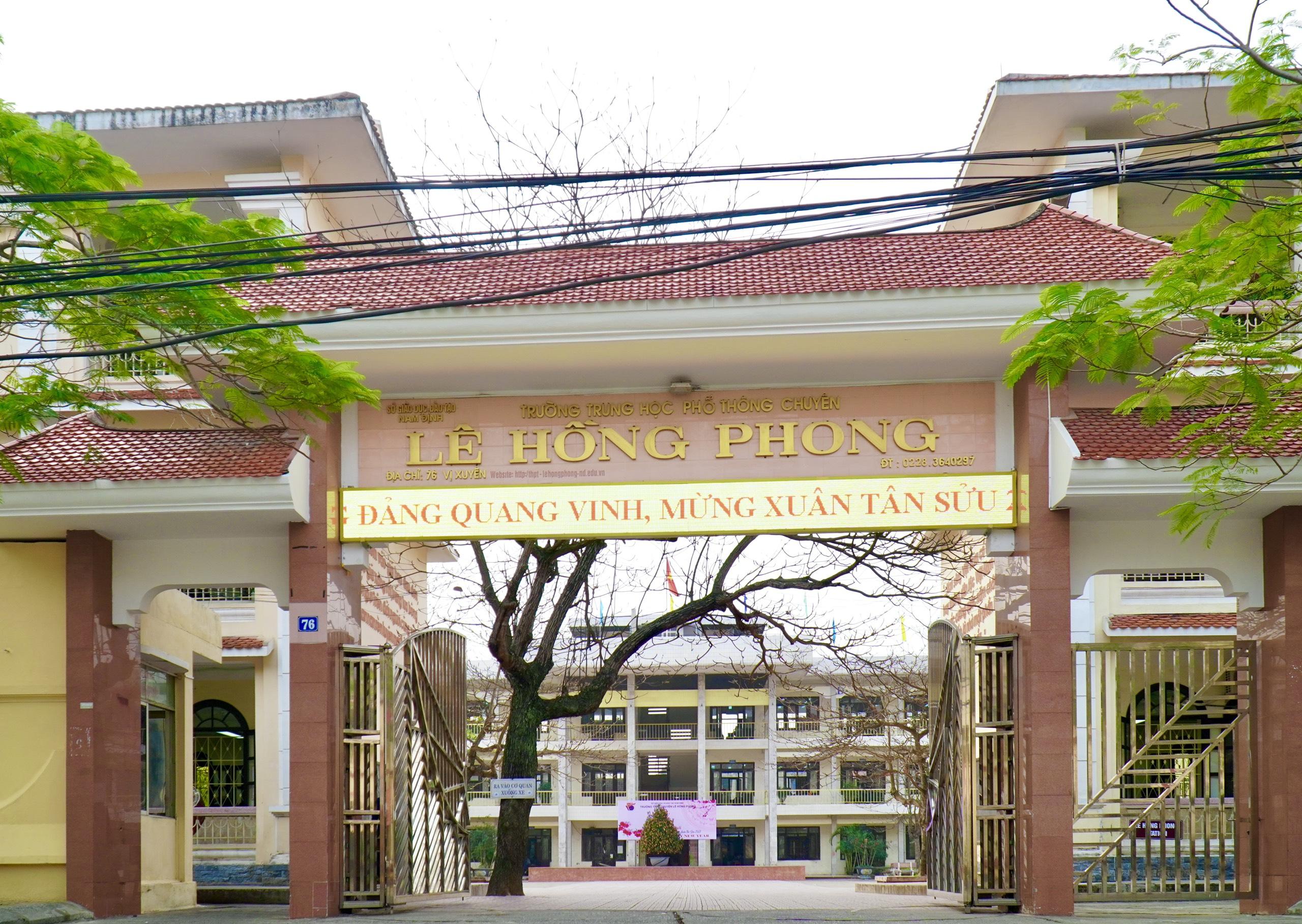 Chương trình chào Xuân Tân Sửu 2021 (trực tuyến) và ngày làm việc đầu tiên của thầy trò trường THPT chuyên Lê Hồng Phong, Nam Định
