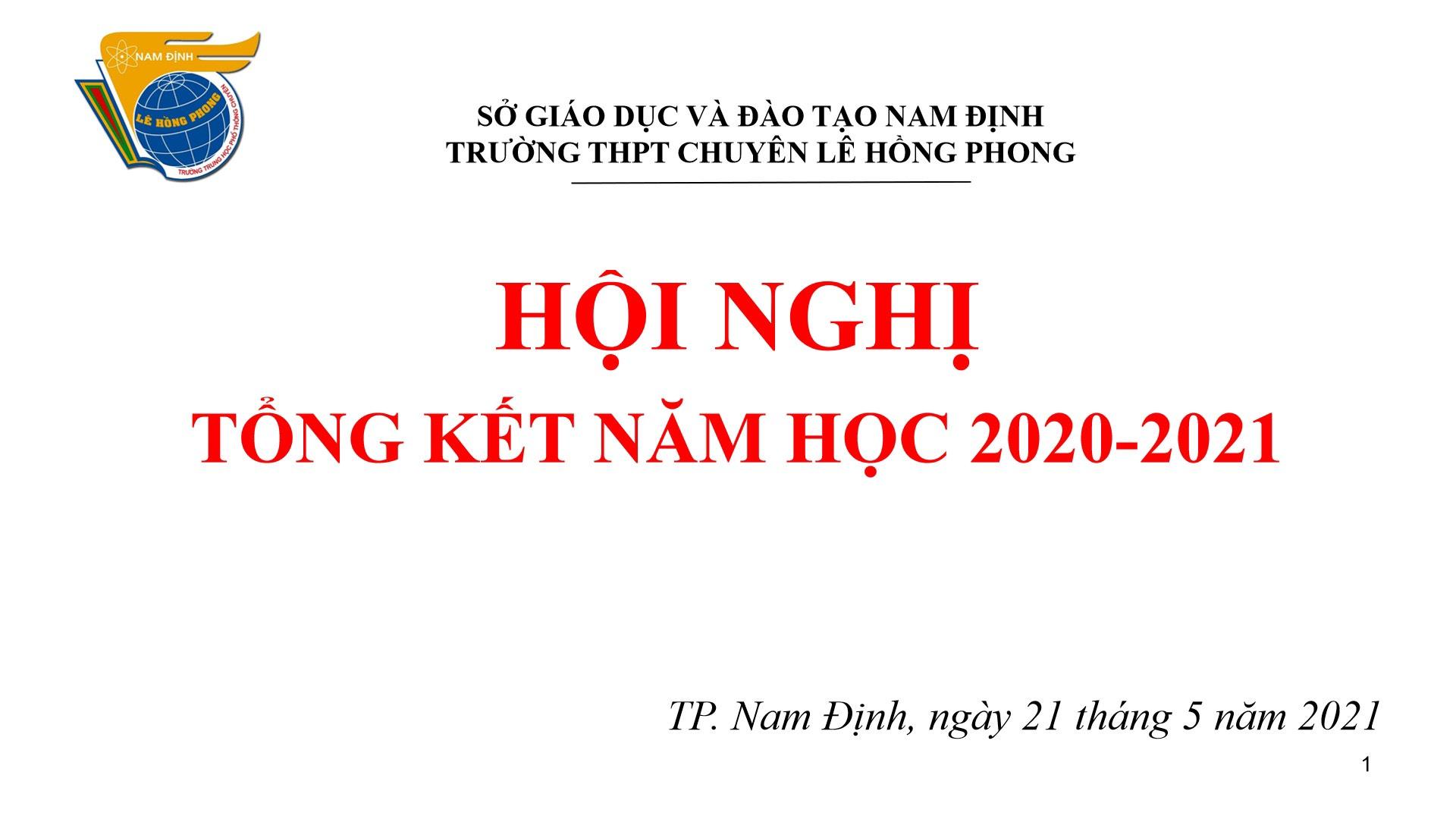 Hội nghị tổng kết năm học 2020-2021