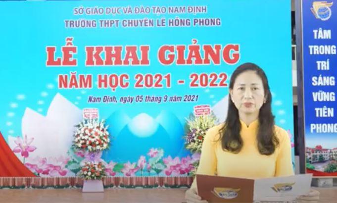 Diễn văn khai giảng năm học 2021 - 2022