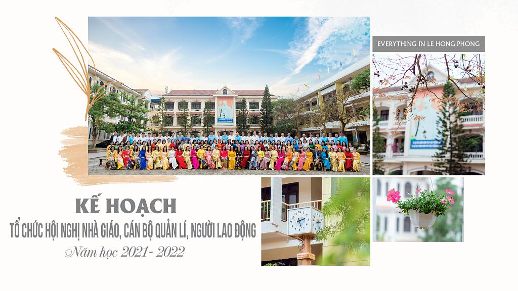 Kế hoạch tổ chức Hội nghị nhà giáo, cán bộ quản lý, người lao động năm học 2021-2022