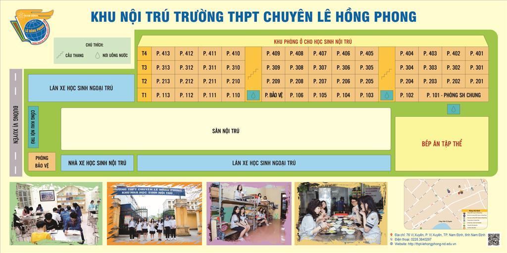 Mái nhà nội trú trường THPT chuyên Lê Hồng Phong, Nam Định